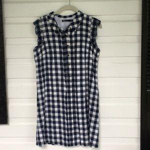 Anthropologie Gingham dress size medium